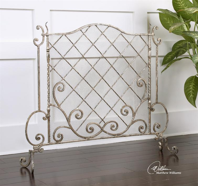 screen frontgate beveled everley wfpr main glass fireplace silver victoria