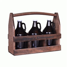 3 Growler Beer Caddy Personalized