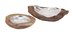 Abaco Teak and Aluminum Bowls - Set of 2