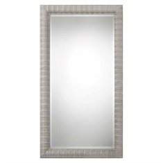 Abenaki Ivory Gray Oversized Mirror