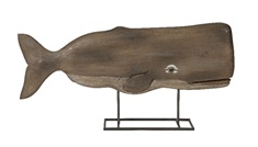 Achilles Carved Wood Whale