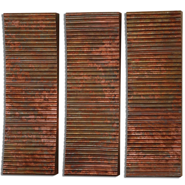 Adara Copper Wall Art S/3