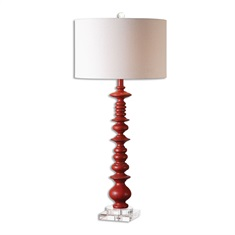 Adena Aged Red Table Lamp