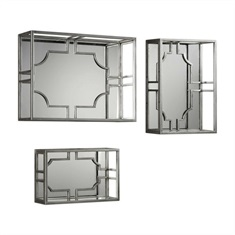 Uttermost Adoria Silver Wall Shelves S/3