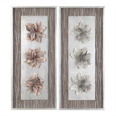 Adrienn Foliage Shadow Box, Set Of 2