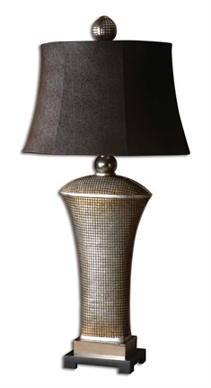 Afton Antique Silver Table Lamp
