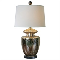 Ailette Antiqued Mercury Glass Lamp