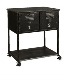Alastor Rolling Cart Table - 2 Drawer