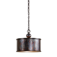 Albiano 1 Light Oxidized Bronze Pendant