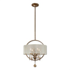 Alenya 4 Light Fabric Drum Pendant