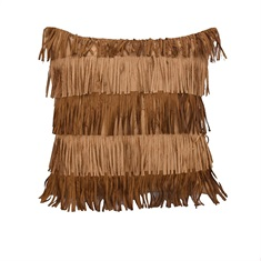 Alternating Fringe Pillow