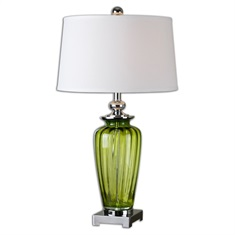 Amedeo Green Glass Table Lamp