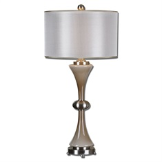Amerson Taupe Gray Glass Table Lamp