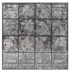 Antique Street Map Wall Art