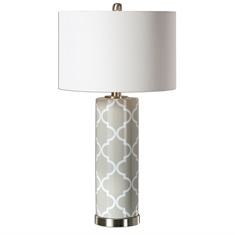 Anzano Gray Glass Lamp