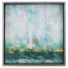 Aqua Blue Abstract Art
