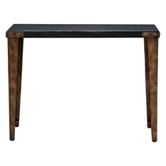 Atilo Worn Black Console Table
