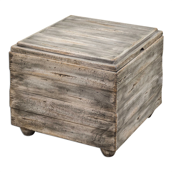 Avner Wooden Cube Table