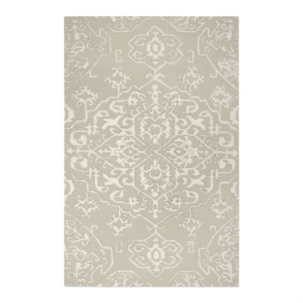 Ayla Beige Ivory Hand Tufted Rug Swatch