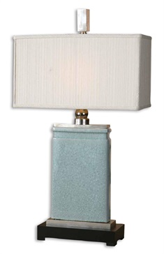 Azure Light Blue Table Lamp