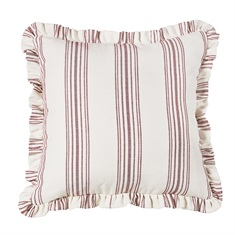 Prescott Red Striped Euro Sham