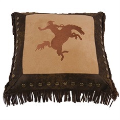 Barbwire Bronco Rider Pillow