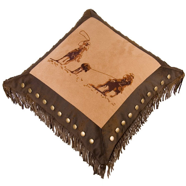 Barbwire Team Roping Pillow