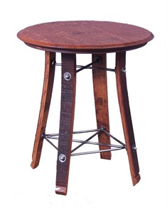 Barrel Top Side Table 24""