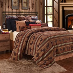 Bayfield 4 PC  Moose Duvet Set, Twin