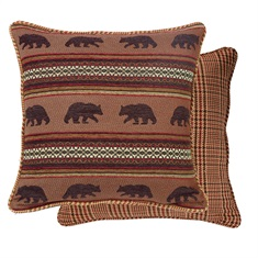 Bayfield Bear & Houndstooth Euro Sham