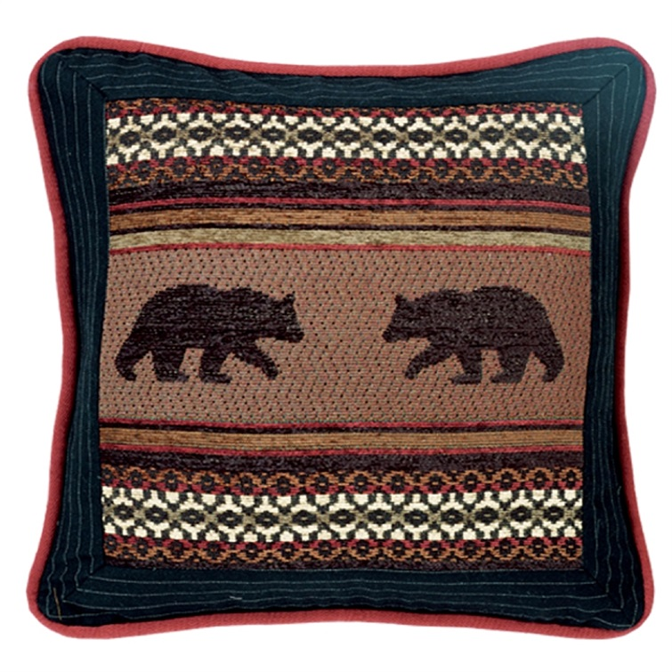 Bayfield Square Bear Pillow