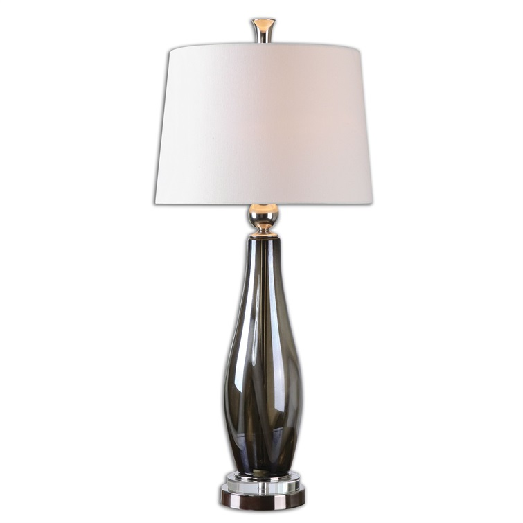 Belinus Gray Glass Table Lamp