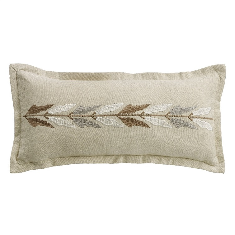 Jolie Embroidered Linen Pillow