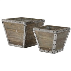 Birtle Wood Containers S/2