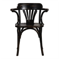 Black Huck Accent Chair