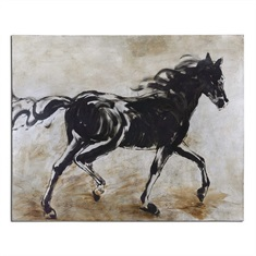 Uttermost Blacks Beauty Horse Art