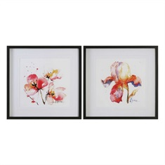 Blooms Hermanas Watercolor Prints  S/2