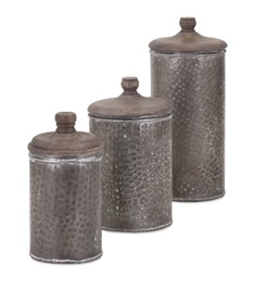 Brampton Lidded Canisters - Set of 3