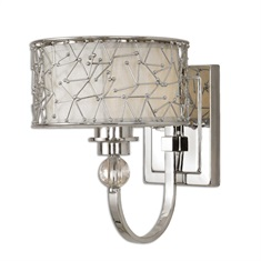 Brandon 1 Light Nickel Plated Wall Sconce