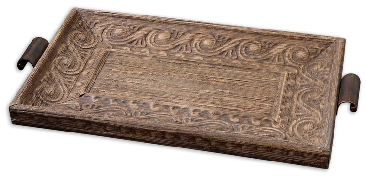 Camillus Wood Framed Decorative Tray