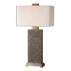 Canfield Coffee Bronze Table Lamp