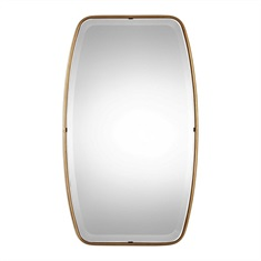 Canillo Antiqued Gold Mirror