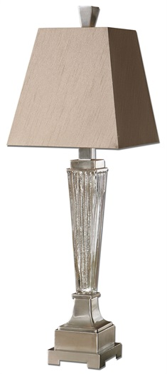 Canino Mercury Glass Pillar Table Lamp