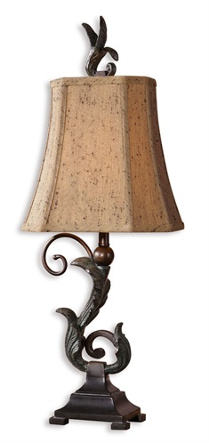 Caperana Black Buffet Lamps Set/2
