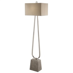 Carugo Polished Nickel Floor Lamp