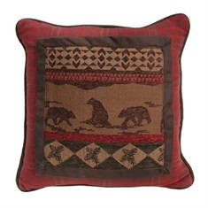 Cascade Lodge Bear Pillow