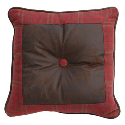 Cascade Lodge Faux Leather Pillow