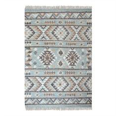 Chaparral Aqua Hand Woven Rug Swatch
