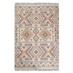 Chaparral Rust Orange Hand Woven Rug Swatch