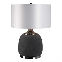 Charna Charcoal Ceramic Table Lamp